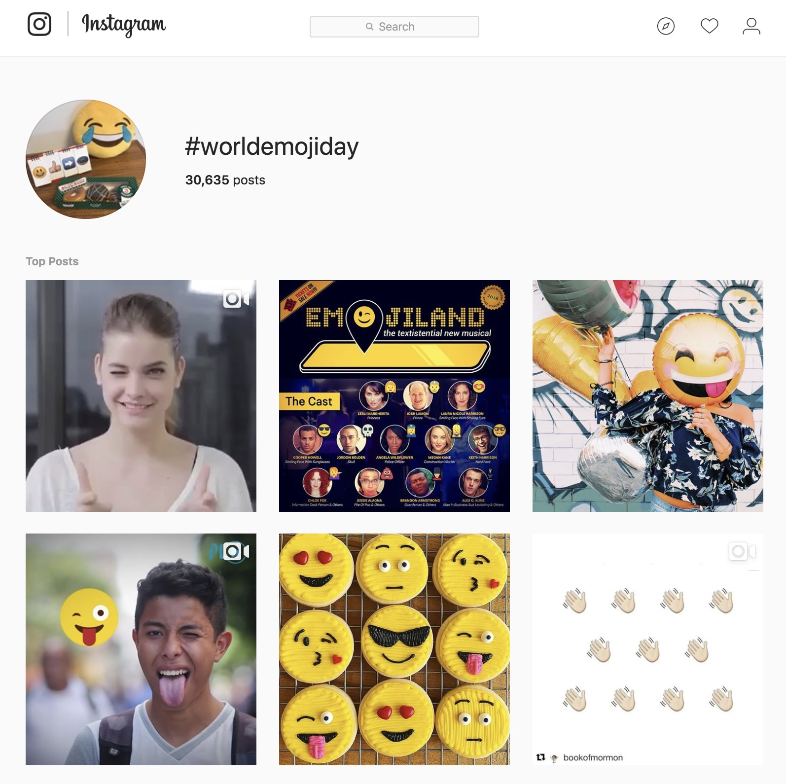 Event ideas for content marketing Emoji Day