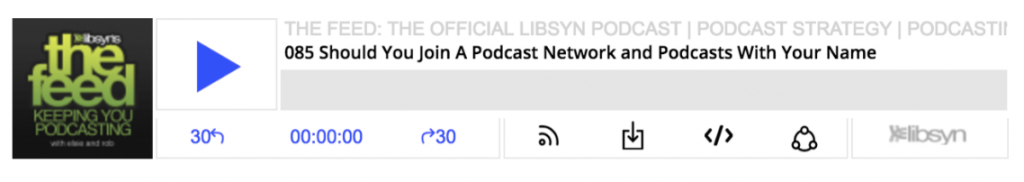 Libsyn media player for podcasting