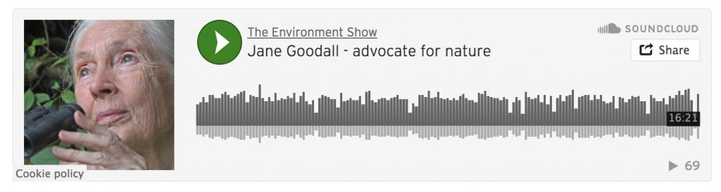 Soundcloud media player Environment Show podcast